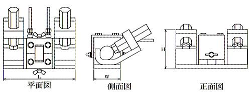 エンクローズ溶接継手の治具寸法